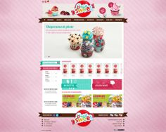 maquette site creasweet.ch - creation site internet pour vente produits de fete