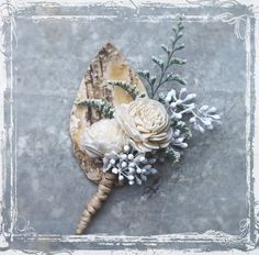 Birch Forest Boutonniere Perfect For Rustic by sparkleandposy