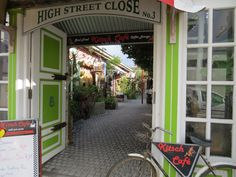 High Street Close & Kitsch Cafe, Hermanus Photo - J Cook Kitsch, Coffee Shops, Stalls, South Africa, Street, Cooking, Travel, Shopping, Cucina
