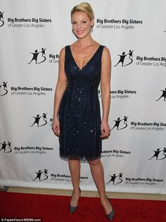 Little black dress: Katherine Heigl glammed it up in a glittery gown with matching sparkly shoes at the Big Brothers Big Sisters Of Greater Los Angeles Big Bash fundraiser on Friday