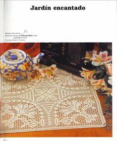 Kira scheme crochet: Scheme crochet no. Diy Crochet Doilies, Crochet Doily Diagram, Crochet Tablecloth, Crochet Stitches Patterns, Crochet Home, Thread Crochet, Filet Crochet, Crochet Motif, Crochet Designs