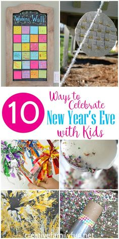 Fun Ways to Celebrate New Year's Eve with Kids Celebrate the new year with one of these 10 fun New Year's activities for kids.Celebrate the new year with one of these 10 fun New Year's activities for kids. New Years Eve Music, Kids New Years Eve, New Years Eve Party, New Year's Eve Activities, Family Activities, New Year's Eve Crafts, New Years Eve Invitations, New Years Traditions, Family Fun Night