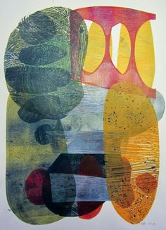 Michèle Brown Artist - The Old Cells Studio - gelli plate