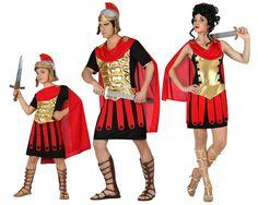Familia de Guerreros Romanos #disfraces #carnaval #disfracesparagrupos