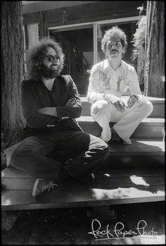 Jerry Garcia Carlos Santana by Michael Zagaris, 07/10/76