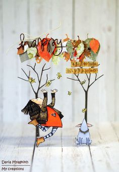 My creations: Autumn leaves cards