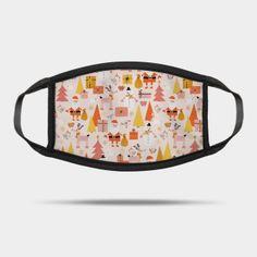 Masks by Sandra Hutter Designs   TeePublic Face Masks For Kids, Reindeer, Design