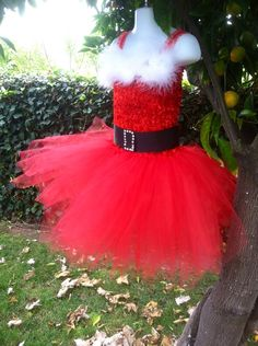 Santa Baby Christmas Santa tutu dress by 2Twos on Etsy, $40.00
