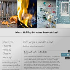 Holiday Disaster Sweepstakes. Who hasn't had some kind of holiday disaster that at the time was the worst thing that could happen, but as time went on became just a funny story