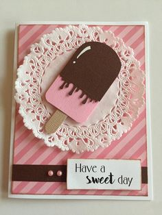 Sweet ice cream punch art card - The Paper Collage #cardideas