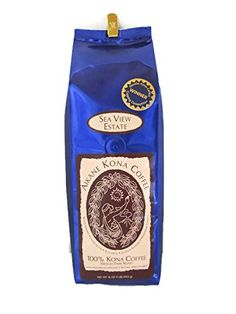 Aikane Kona Coffee Sea View Estate FANCY grade Farmdirect 100 Kona Coffee Medium Dark Roast Whole Beans 1 Lb 1 Lb *** Check out this great product.