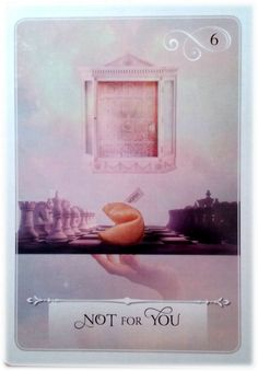 Not for You ~ Wisdom of the Oracle divination card by Colette Baron-Reid
