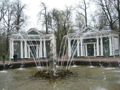 Peterhof summer palace, approx. 150 fountains on the grounds