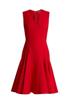 Click here to buy Alexander McQueen Sleeveless wool and silk-blend dress at MATCHESFASHION.COM