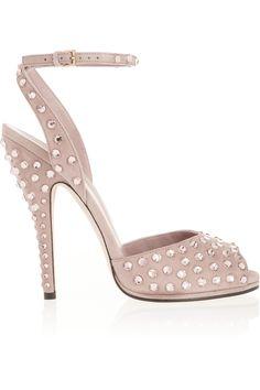 Gucci Yulia Swarovski crystal-embellished suede sandals