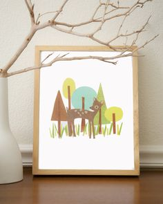 Little Deer Forest Friend 8x10 Eco Friendly by ChildrenInspire, $22.00