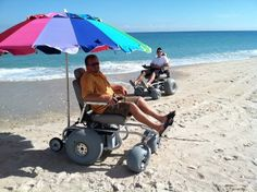 Worth knowing that beach power wheelchairs are out there: Beach Cruiser Mobility, LLC, Vero Beach, FL