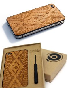 Benny gold Iphone case   geo patterns on wood, so slick~