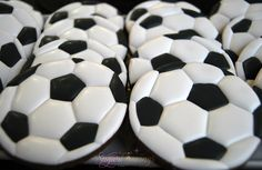 Impeccable Soccer Ball Cookies (Sugar Cravings)