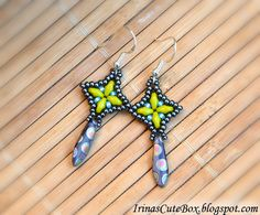 Super Duo Bead Earrings | make these earrings, you'll need some seed beads and super duo beads ...