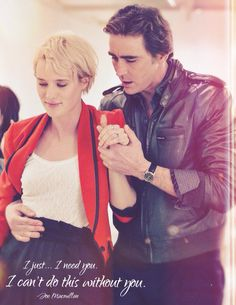 Loved their complicated relationship. Especially those last words he said to her...   Made it myself. Joe Macmillan and Cameron Howe from AMC's Halt and Catch Fire season 1