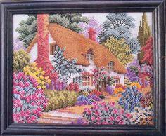 Cross Stitch House, Just Cross Stitch, Counted Cross Stitch Patterns, Cross Stitch Charts, Cross Stitch Landscape, Felt Embroidery, Bargello, Cross Stitching, Blackwork