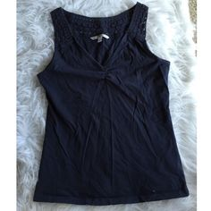 Tommy Hilfiger navy crochet tank This is super cute! It does have some pilling so priced accordingly. NO TRADES DONT ASK! ✌️Transactions through posh only!   friendly home  if you ask a question about an item, please be ready to purchase (serious buyers only) ❤️Color may vary in person! ⭐️Bundles of 5+ LISTINGS are 5️⃣0️⃣% off! ⭐️buyer pays extra shipping if likely to be over 5 lbs thanks for looking! Tommy Hilfiger Tops Tank Tops