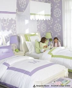 Love the monogrammed bed spreads
