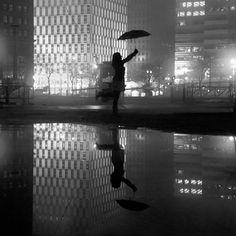 Mysterious Silhouettes Along Detroit's Dark City Streets - My Modern Metropolis