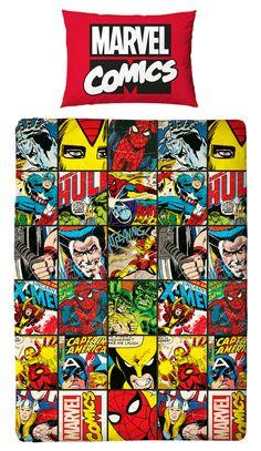 MARVEL COMICS DEFENDERS SINGLE DUVET QUILT COVER BOYS REVERSIBLE BEDDING SET #Marvel