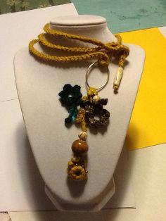 Handmade Crochet Necklace by joywelry2love on Etsy