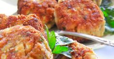 Kotlety z jajek z pieczarkami Polish Food, Polish Recipes, Vegetarian Food, Salmon Burgers, Recipies, Dinner, Cooking, Ethnic Recipes, Ideas