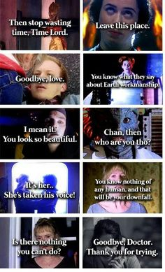 Is it sad that I know exactly what scene and episode each of these quotes were taken from? ;)