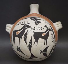 Acoma Pottery Canteen by Jessie Garcia Ca 1970s by CulturalPatina