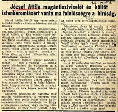 József Attila Istenkáromlás miatt bíróság előtt Time Travel, Poems, 1, Teaching, Marketing, Education, School, Big Big, Quotes