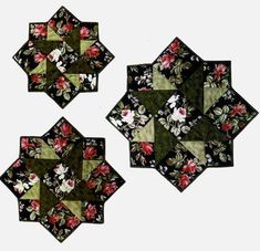 Designs to Share with You quilt pattern - Stella - designed by Ursula Riegel  Three fabrics, three sizes and an easy construction make this a quick and versatile pattern for every quilter. Another quilt pattern in Ursulas popular series of placemats and table toppers in three sizes.