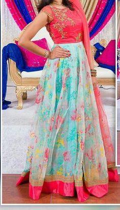 Indian Anarkali Dresses, Kalamkari Dresses, Half Saree Lehenga, Designer Anarkali Dresses, Ikkat Dresses, Designer Dresses, Sarees, Lehenga Designs, Half Saree Designs