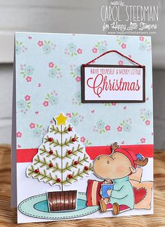 Inky Fingers: My Favorite Things Merry Christmoose card