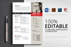 MS Word Professional CV Resume by Business Flyers on College Resume Template, Resume Design Template, Cv Template, Resume Templates, Business Brochure, Business Card Logo, Business Flyers, Resume Tips, Resume Examples