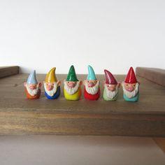 10 tiny custom gnome figurines by HandyMaiden on Etsy