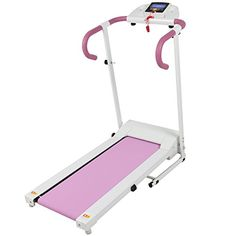 Best Choice Products Pink Portable Folding Electric Motorized Treadmill Running Fitness Machine - deal and steals signage Cheap Exercise Equipment, Exercise Bike Reviews, Cardio Equipment, Fitness Equipment, Treadmill Workouts, Running On Treadmill, Running Workouts, Workout Gear, Treadmills For Sale