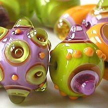 Z-Beads 2007 Gallery featuring handmade lampwork beads by Sarah Moran...