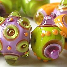 Z-Beads 2007 Gallery featuring handmade lampwork beads by Sarah Moran...