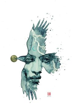 'American Gods: Shadows' #1 by David Mack, variant cover art for the Dark Horse Comics series