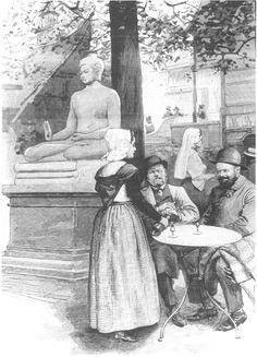 Hollandse paviljoen met boeddhabeeld, Parijs 1900