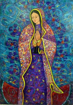Título: Virgen de Guadalupe Madre de México - Técnica: Mixta/Tela - Medidas: 170x120cm #virgen #guadalupe #arte