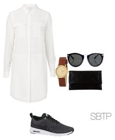 """casual relaxed daytime wear"" by ttiwha on Polyvore featuring Witchery, NIKE, Nixon, Status Anxiety and Karen Walker"