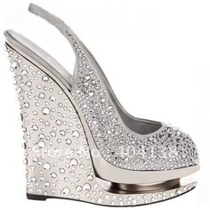Buy Summer Brand Sexy high heels shoes wedding Rhinestone Pumps platforms womens wedges crystal fish mouth sandals Gold Silver 34-41 on Aliexpress.com
