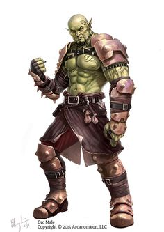 Male Orc, A character design I did for Tales of Arcana. Support the Kickstarter on https://www.kickstarter.com/projects/1383113518/tales-of-arcana-roleplaying-card-game