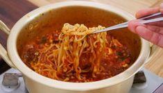 Rabokki Korean Sweet & Spicy Ramen Recipe & Video - Seonkyoung Longest Cod Recipes, Curry Recipes, Asian Recipes, Asian Foods, Beef Recipes, Spicy Beef Ramen Recipe, Chow Fun Recipe, Seonkyoung Longest, Beef